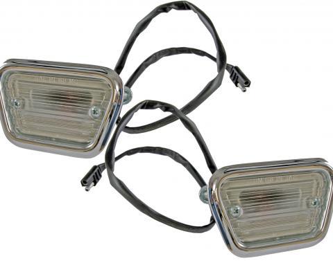 Scott Drake 1968 Front Side Marker Lights (Pair) C8ZZ-15A201-C/D