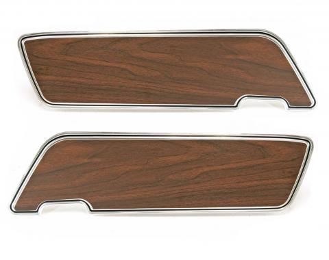 Scott Drake 1969-1970 Ford Mustang Deluxe Door Panels (with Walnut Inserts, Pair) C9ZZ-6523942/3W