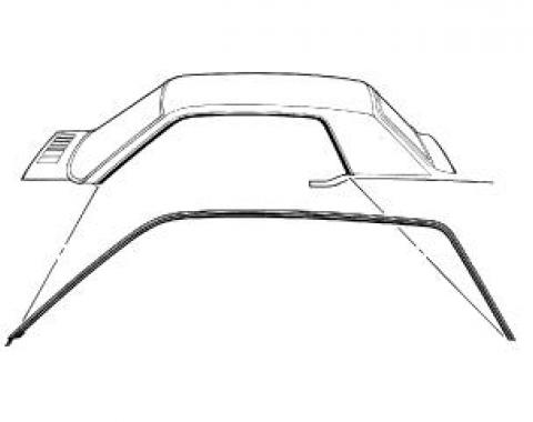 Scott Drake 1964-1966 Ford Mustang 64-66 Coupe Roof Rail Seal. Also fits 67-68 Mercury Cougar C5ZZ-6551222/3C