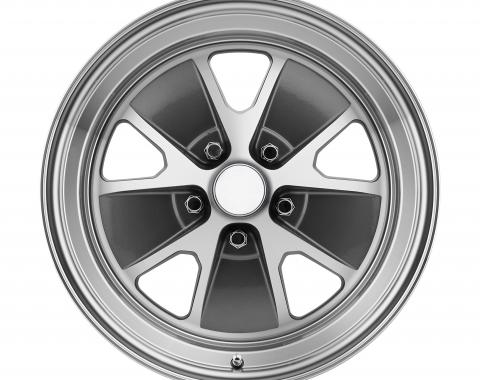 Legendary Wheels 15 x 7 Styled Alloy Wheel, 5 on 4.5 BP, 4.25 BS, Charcoal / Machined LW20-50754B