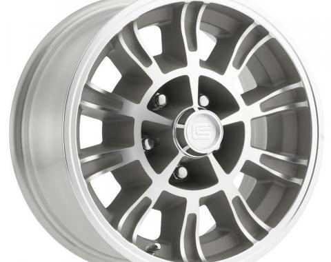 Legendary Wheels 1964-1973 Ford Mustang 15x7 Legendary GT6 Wheel 5 on 4.5 BP, 4.25 BS, Clear Coat/ Machined LW66-50754C