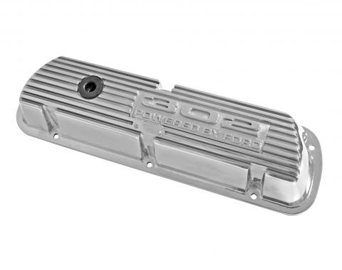 Scott Drake 1968-1973 Ford Mustang 302 Polished Aluminum Valve Covers (Pair) 6A582-302P