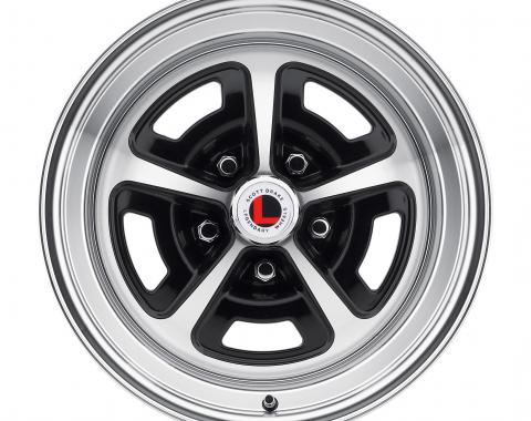 Legendary Wheels 15 x 7 Magnum Alloy Wheel, 5 on 4.5 BP, 4.25 BS, Gloss Black / Machined LW50-50754A