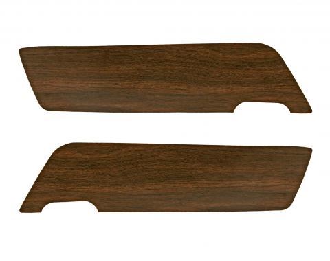 Scott Drake 1969-1970 Ford Mustang 69-70 Walnut Vinyl Door Panel Inserts C9ZZ-65237A22-A