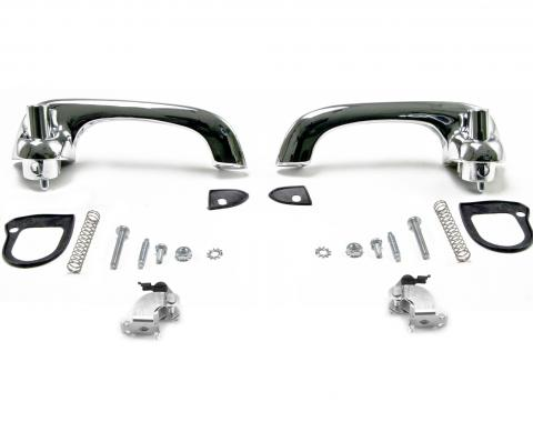 Scott Drake 1964-1966 Ford Mustang Show-Quality Door Handles (polished chrome) C4DZ-6222404/5P