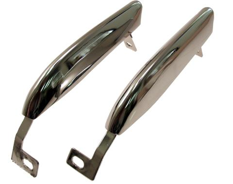 Scott Drake 1967-1968 Ford Mustang Front Bumper Guards (without Trim Holes) C7ZZ-17996/7-B