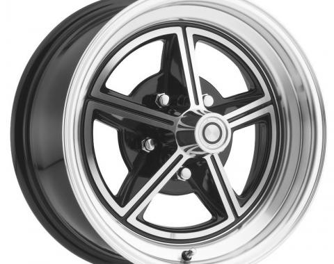 Legendary Wheels 1964-1973 Ford Mustang 15 x 7 Magstar II Alloy Wheel, 5 on 4.5 BP, 4.25 BS, Gloss Black / Machined LW30-50754A