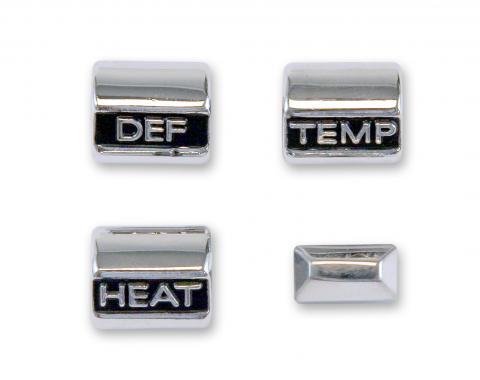 Scott Drake 1967 Heater control knob set C7ZZ-18519-AK