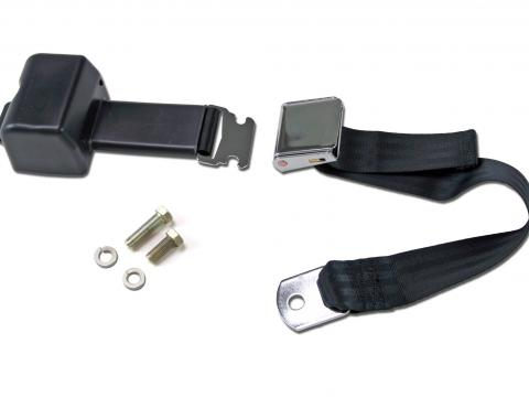 Scott Drake 1968-1973 Ford Mustang Aftermarket Seat Belts (Black, Retractable) SB-BK-68