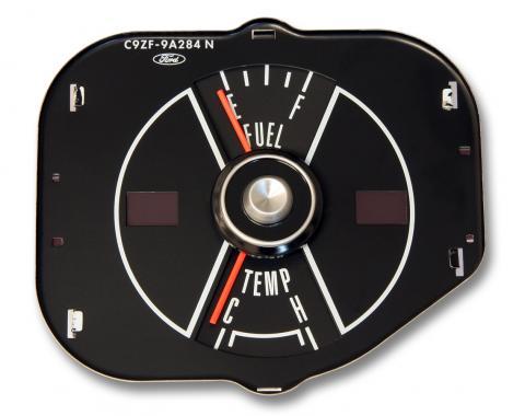 Scott Drake 69 Mustang fuel/temp gauge-black C9ZF-9A284