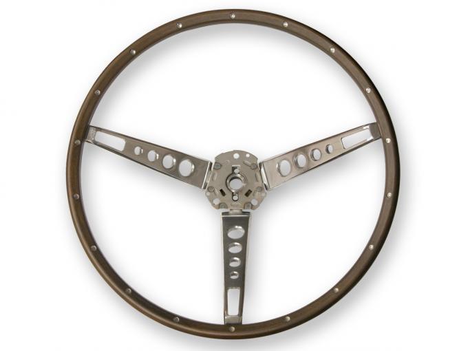 Scott Drake 1965-1966 Ford Mustang Deluxe Steering Wheel (Wood) C5ZZ-3600-N