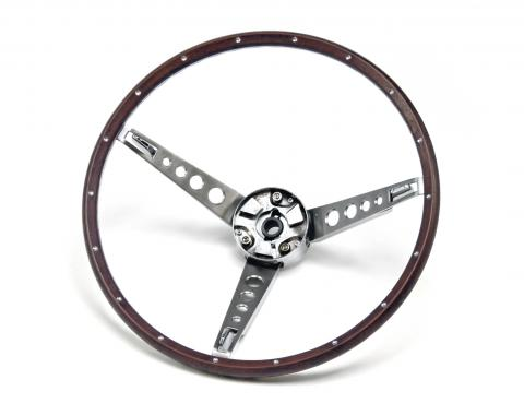 Scott Drake 1967 Ford Mustang Deluxe Steering Wheel Assembly (Woodgrain) C7OZ-3600-NK