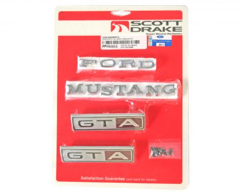 Scott Drake 1967 Emblem Kit GTA (All bodystyles 8 Cylinder Auto-Trans) C7ZZ-6540282GTA