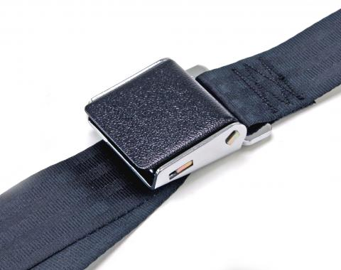 Scott Drake 1964-1973 Ford Mustang 64-73 Black Wrinkle Seat Belts SB-BK-DLX