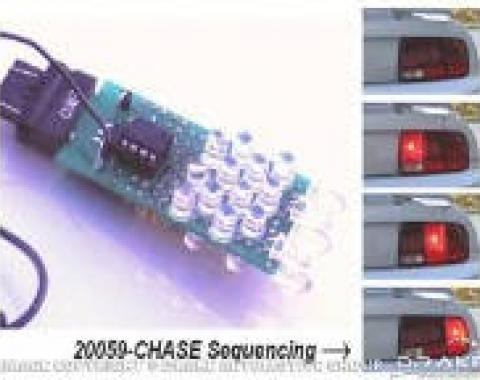 Drake Muscle Cars 2005-09 Mustang LED Sequential Tail Light Kit (Chase) SD-20059-CHASE