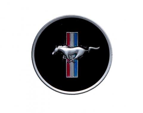 Scott Drake 1968 Mustang Horn Panel Emblem with Classic Mustang Tri-Bar Logo C8ZZ-3649-AR