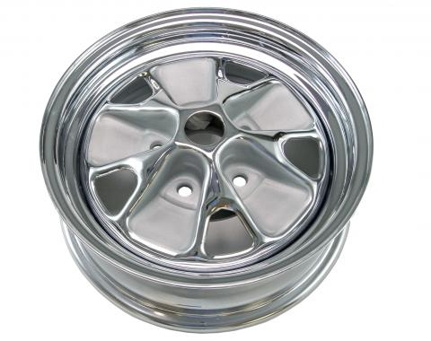 Scott Drake 1964 Styled Steel Wheel (14X5 With Chrome Rim and Argent Paint) C5ZZ-1007-ARG