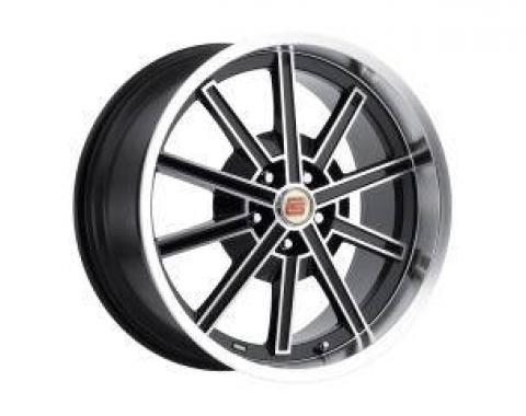 Carroll Shelby Wheels 2005-2014 Ford Mustang CS67 20x10, Black CS67-205445-B