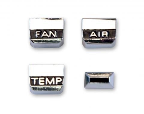 Scott Drake 1967 A/C & Heater Control Knob Set C7ZZ-18519-ACK