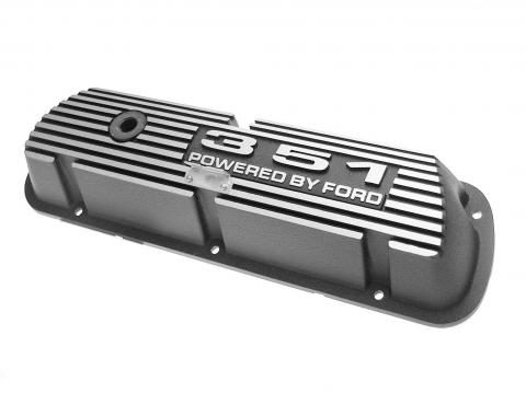 Scott Drake 1969-1973 Ford Mustang 351 Aluminum Valve Covers (Pair) 6A582-351