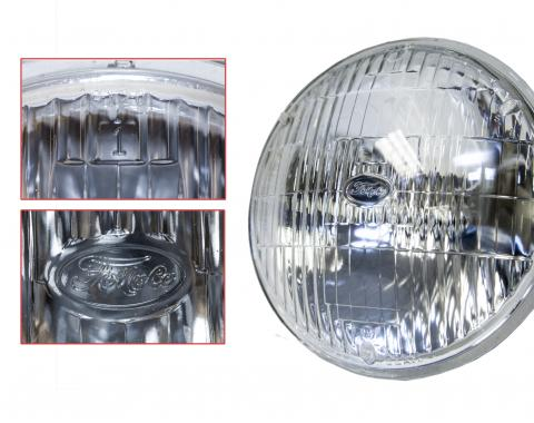 "Scott Drake 1964-1973 Ford Mustang 5 3/4"" High Beam Round Halogen Sealed Beam Headlamp B8AZ-13007-B"