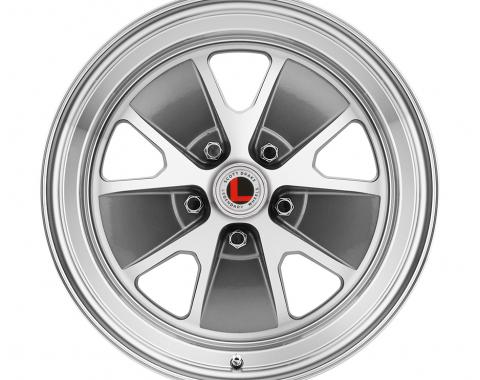 "Legendary Wheels 1964-1973 Ford Mustang 17x7"" Legendary Styled Alloy Wheel, 5 on 4.5 BP, 4.25 BS, Charcoal/ Machined LW20-70754B"