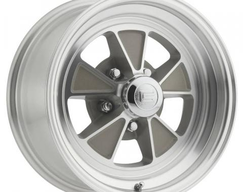 Legendary Wheels 1964-1973 Ford Mustang 15x7 Legendary GT5 Alloy Wheel, 5 on 4.5 BP, 4.25 BS, Clear Coat/ Machined LW70-50754C
