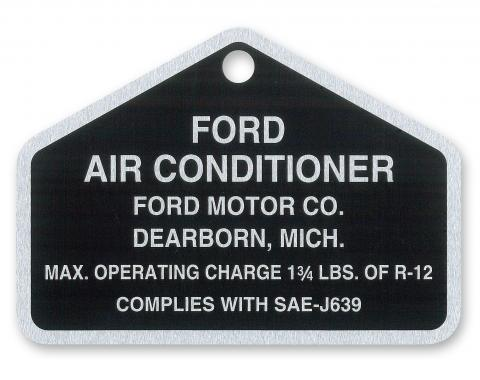 Scott Drake 1964-1970 Ford Mustang A/C Aluminum Tag DF-351