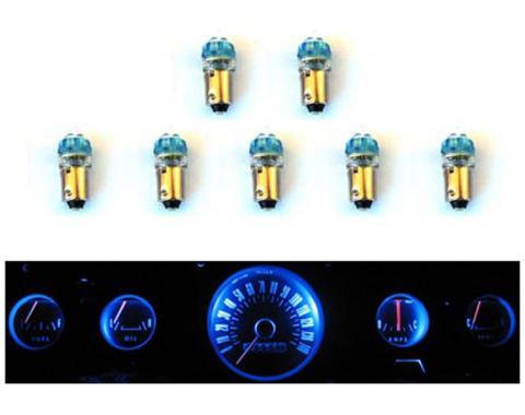 Scott Drake 1965-66 Mustang Instrument Panel LED Light Bulb Set (5-Gauge Cluster) SD-66-GA-BL