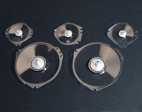 Scott Drake 1968 Ford Mustang Instrument Lens Set (5 Pieces) C7ZZ-10887-A/C