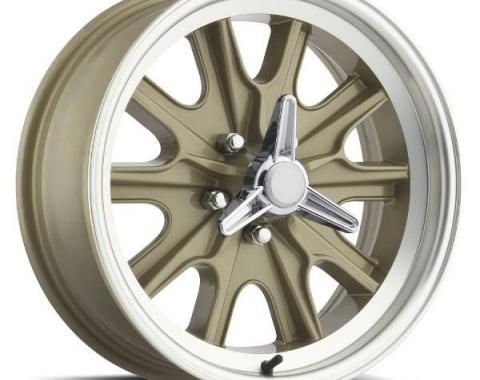 Legendary Wheels 1964-1973 Ford Mustang 15 x 7 Legendary HB45 Alloy Wheel, 5 on 4.5 BP, 4.25 BS, 5 Lug, Gold Haze LW90-50754F