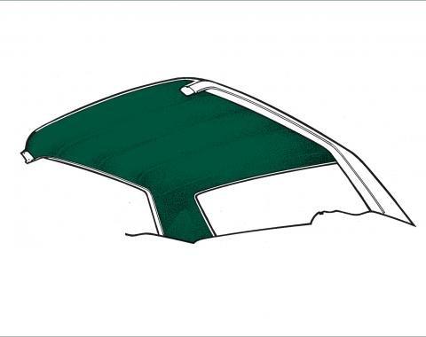 Scott Drake 1971-1973 Ford Mustang Fastback Headliner (Dark Green) HL-FM-FB-71-DG