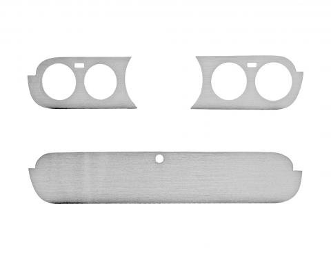 Scott Drake 1965-1966 Ford Mustang Aluminum Instrument Panel & Glove Box Door Inserts KIT-INT-ALMI