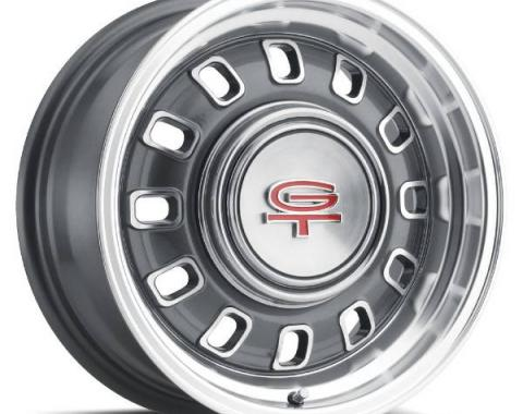"Legendary Wheels 1964-1973 Ford Mustang LW 60 15x7 12 Slot Rim 5x4.5"" Charcoal LW60-50754B"