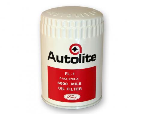 Scott Drake Concours Oil Filter (White/Red Autolite with Ford script) C1AZ-6731-FL1F