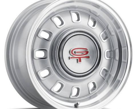 "Legendary Wheels 1964-1973 Ford Mustang LW 60 15x7 12 Slot Rim 5x4.5"" Silver LW60-50754S"