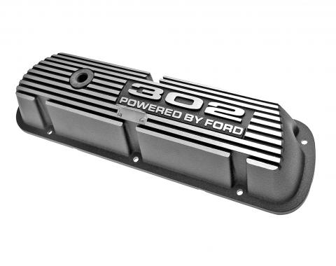 Scott Drake 1968-1973 Ford Mustang 302 Aluminum Valve Covers (Pair) 6A582-302