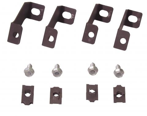 Scott Drake 1964-1966 Ford Mustang 64-66 Fan Shroud Brackets (3 Core) C3DZ-8149-3