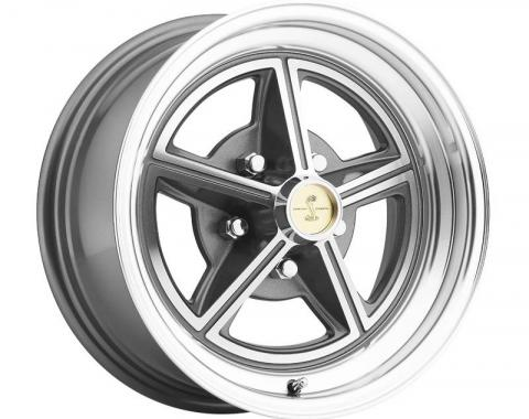 Legendary Wheels 1964-1973 Ford Mustang 15 x 7 Magstar II Alloy Wheel, 5 on 4.5 BP, 4.25 BS, Charcoal / Machined LW30-50754B
