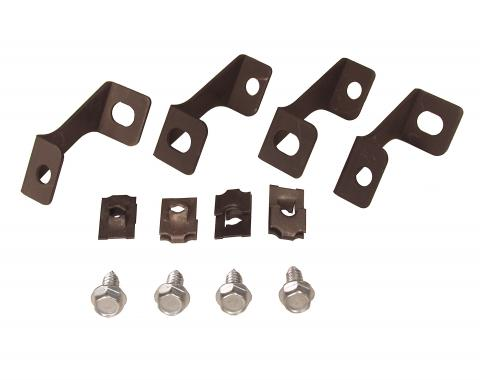 Scott Drake 1965-1966 Ford Mustang 65-66 Fan Shroud Brackets (2 Core) C3DZ-8149-2