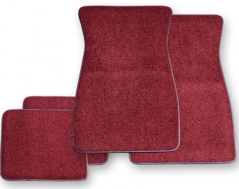Scott Drake 1964-1973 Ford Mustang Carpet Floor Mats (Maroon) ACC-FM-MR