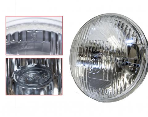 "Scott Drake 1964-1973 Ford Mustang 5 3/4"" High/Low Beam Round Halogen Sealed Beam Headlamp B8AZ-13007-A"