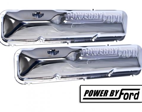 "Scott Drake 390/428 Chrome""Powered by Ford"" valve covers C6OZ-6A582-C"