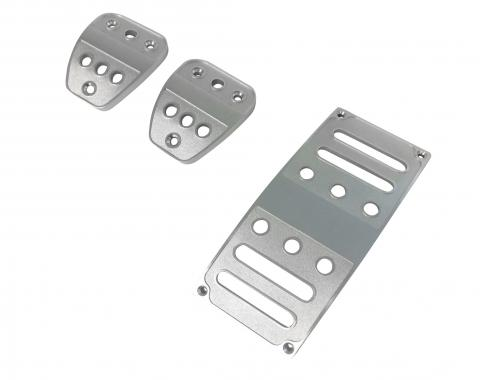 Drake Muscle Cars 2005-2019 Ford Mustang Billet Aluminum Pedal Covers-Manual(3 pc) 5R3Z-2457/9735M