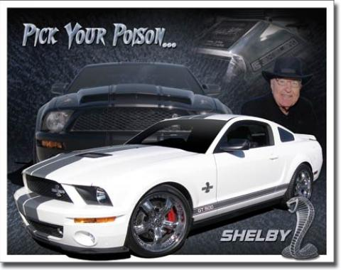 Tin Sign, Shelby Mustang - You Pick