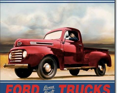 Tin Sign, Ford Trucks Built Tough