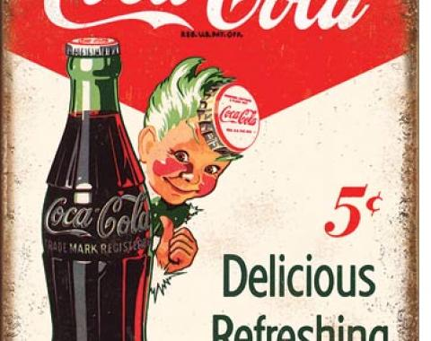 Tin Sign, COKE - Sprite Boy 5 Cents