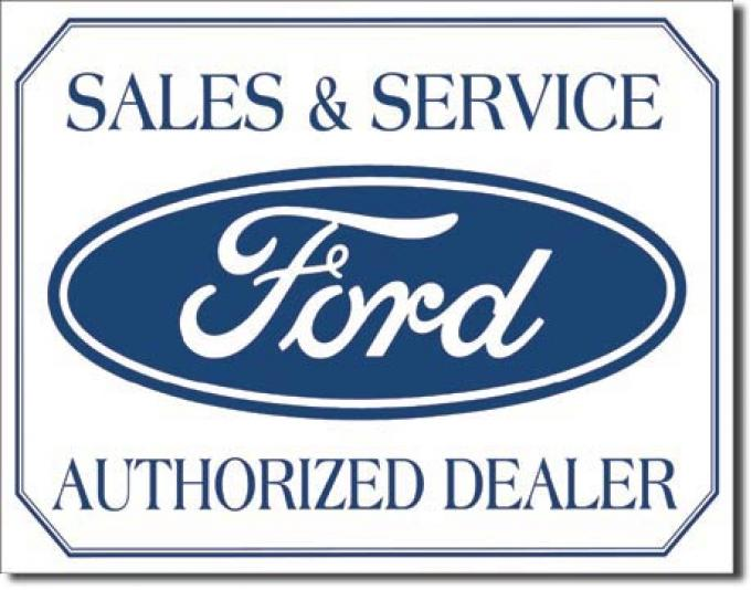 Tin Sign, Ford Logo