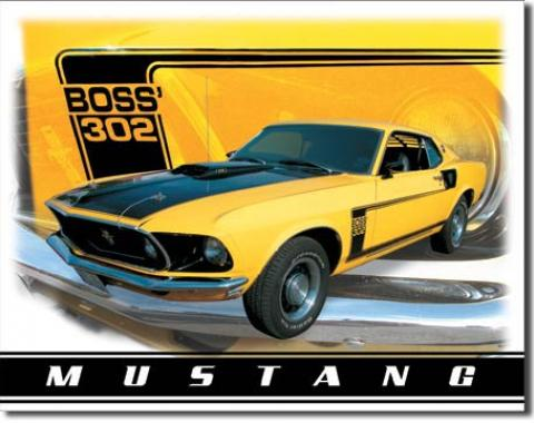 Tin Sign, Ford Mustang Boss 302