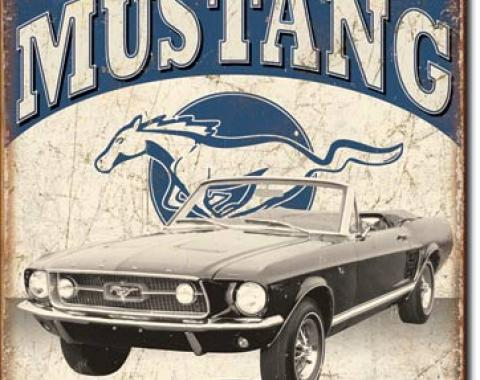 Tin Sign, Classic Mustang